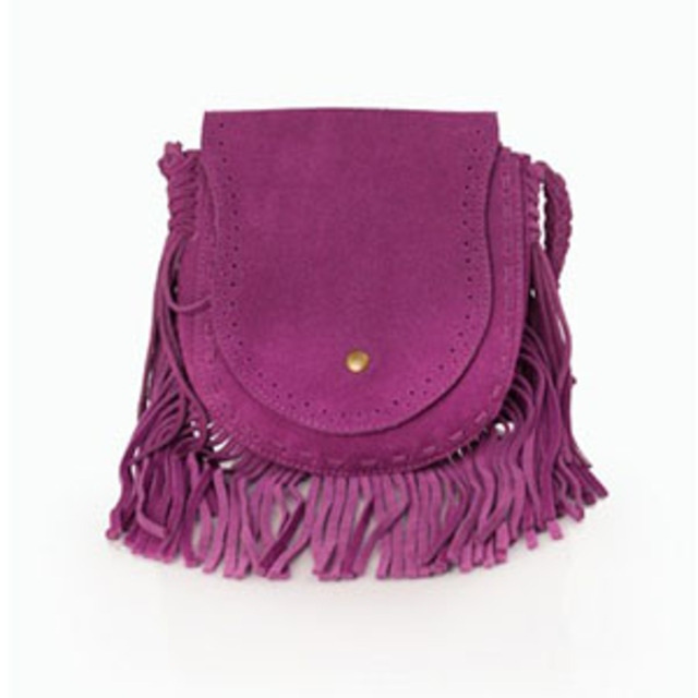 Shop Sosie Mia Fringe Satchel in Purple