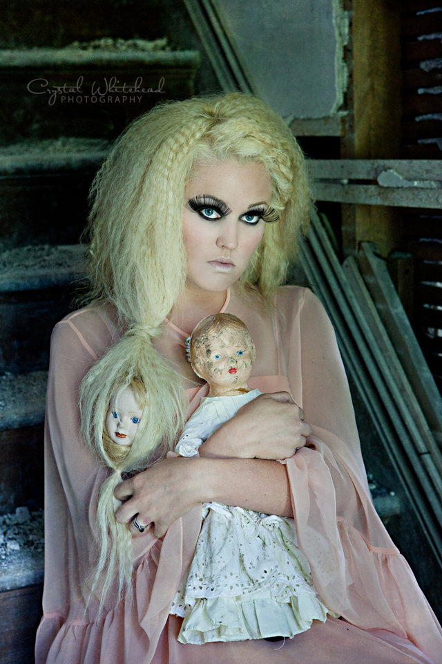 Darker side of dolls photo shoot