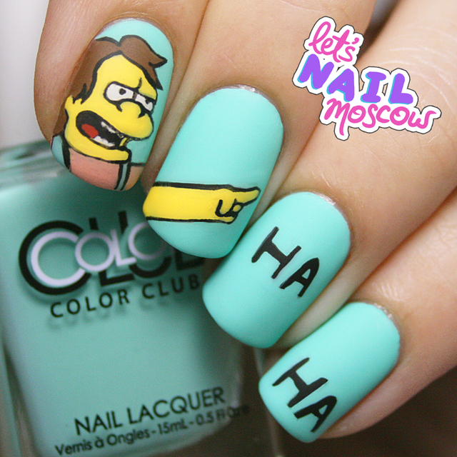 Simpsons nails!