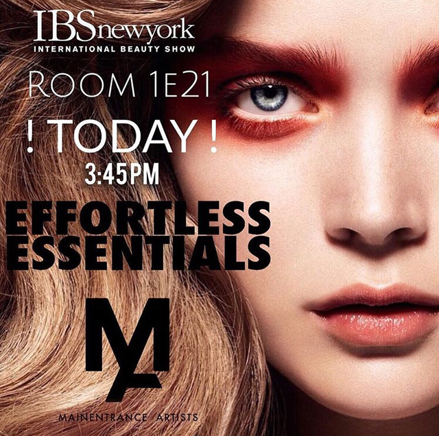 | today only | 3:45pm Room 1E21 Join #DJRiggs and #BerryBachen  at @IBS_shows in #NYC for a first glance of #MAINENTRANCEARTISTS  EFFORTLESS ESSENTIALS program! Where #Finishing #Techniques + #Colour #Placement  come into F O C U S !