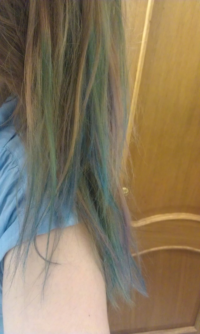 Green, blue, turquoise, violet brown ombre