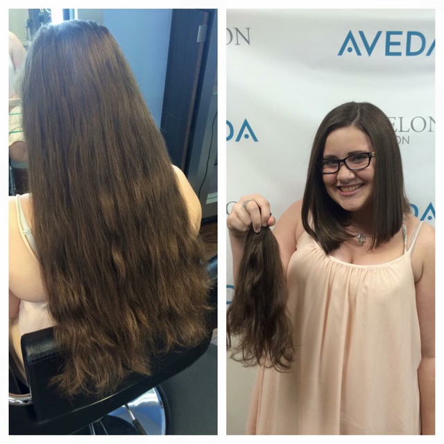 Before & after a-line cut