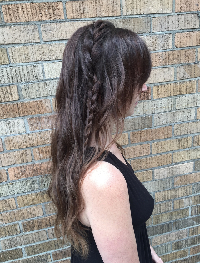 Casual bohemian bridal hair!!