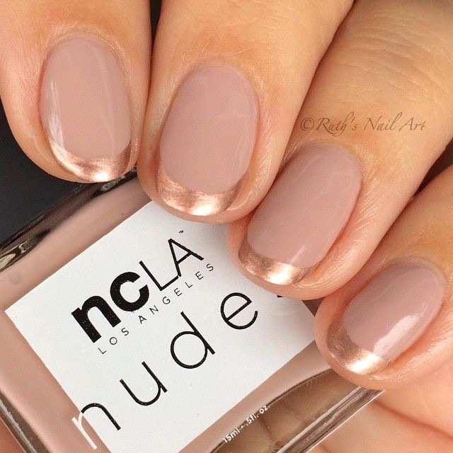 Nude/Bronze French Manicure