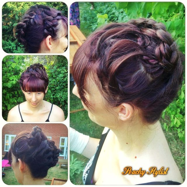 elegant evening braided updo