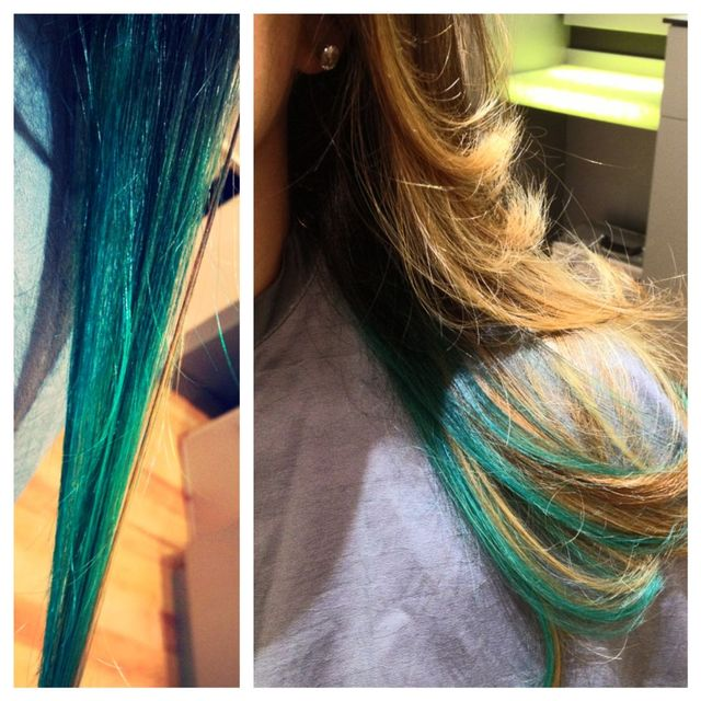 emerald to teal ombre