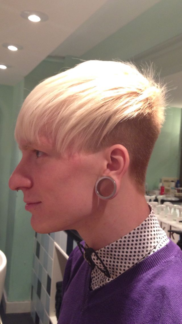 emo undercut short haircut