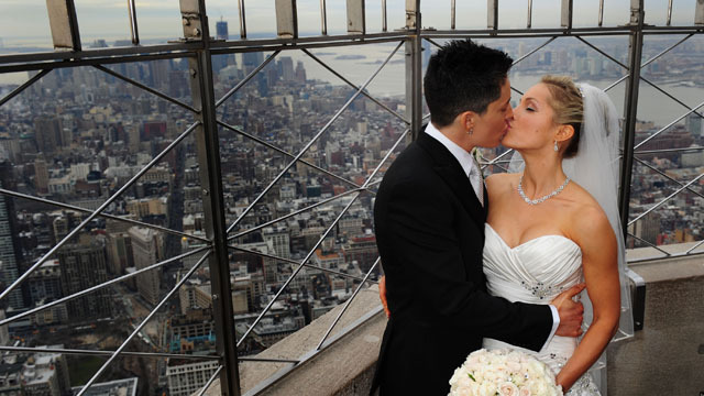 Valentine's Day Weddings Atop The Empire State Building