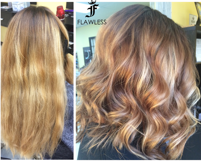 From all over blonde to balayage #lob