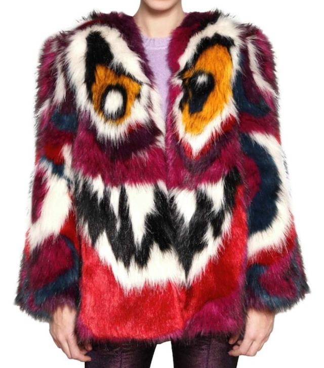 Meadham-Kirchhoff-Cotton-Blend-Faux-Fur-Coat-1