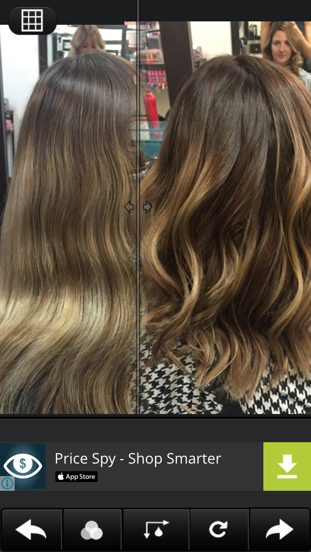 Before and after #balayage