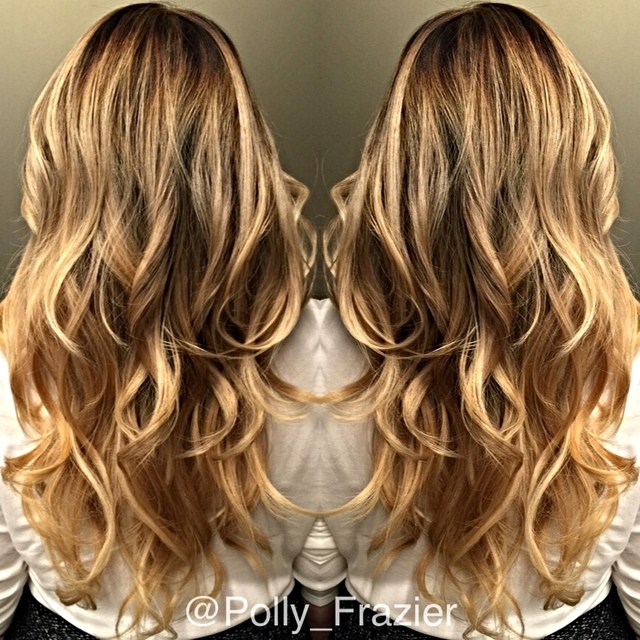 Painted with 30 volume  joico cream lightener RoMaxx  lightly shampooed the RoZen applied and blown into the hair ❤️
