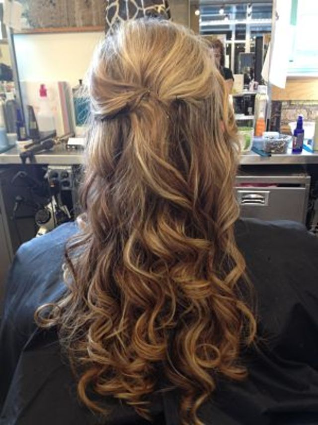 Bridal Hair, Half up Half Down