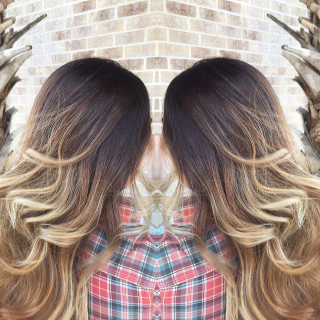 Wind blown Balayage ombre