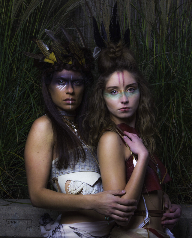 Photo: DP Visual Models: on left Marisa Myal, on right Claire Gentry Hair/Skin: Mary Cassola