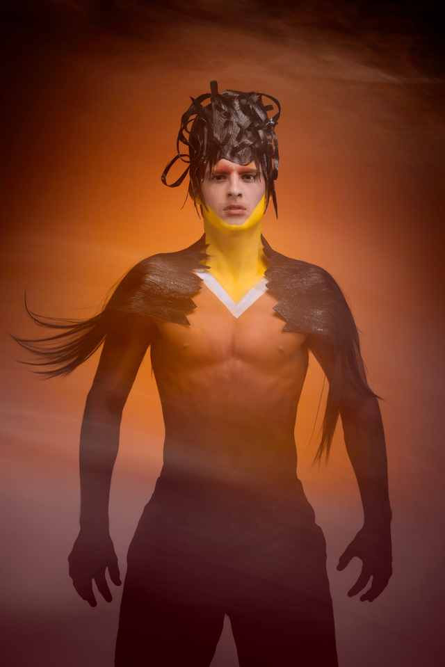 ELEMENTS VEUX Magazine Feb 2015/Issue 22: Fire & Ice Photography: Goldsmith Photography Hair: Matthew Tyldesley Makeup: Isidro Valencia Model: Harrison Pruitt (BMG Models) BTS: Gary Barragan Location: ThoughtFly Studios