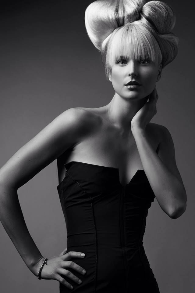 HAIR: KATE REID #HAIRFASHIONSTYLER, PHOTO: NICK BERADI, MAKEUP ERIC ALLEN, MODEL GINTARE