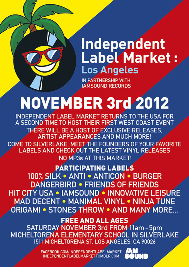 independent label market flyer