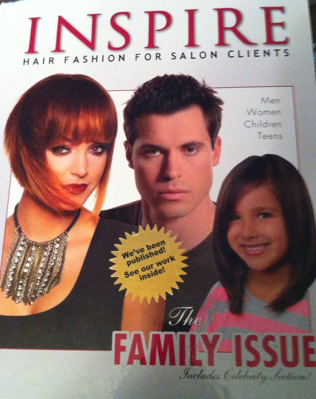 INSPIRE Hair Book Vol 89  My work is in here.. Men's Section - 6th Model