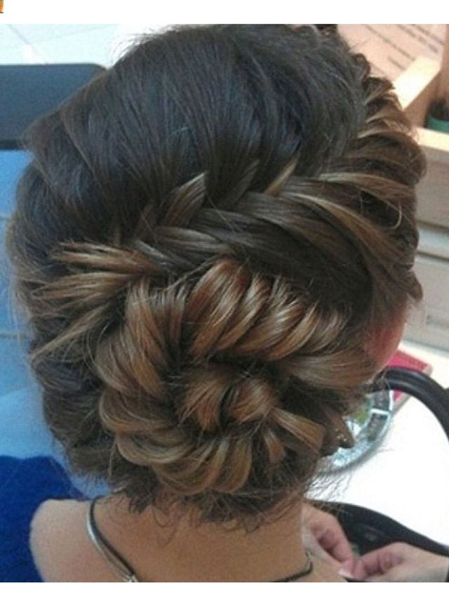 fishtail and a bun