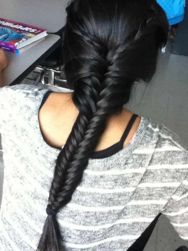 fishtail down!