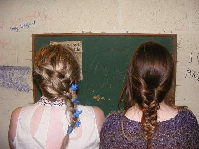floral dutch braid and fishtail plait