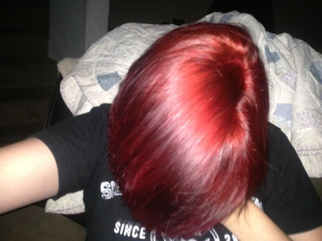 fresh red hair.
