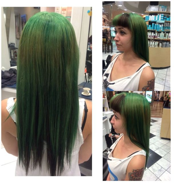 fun green hair.