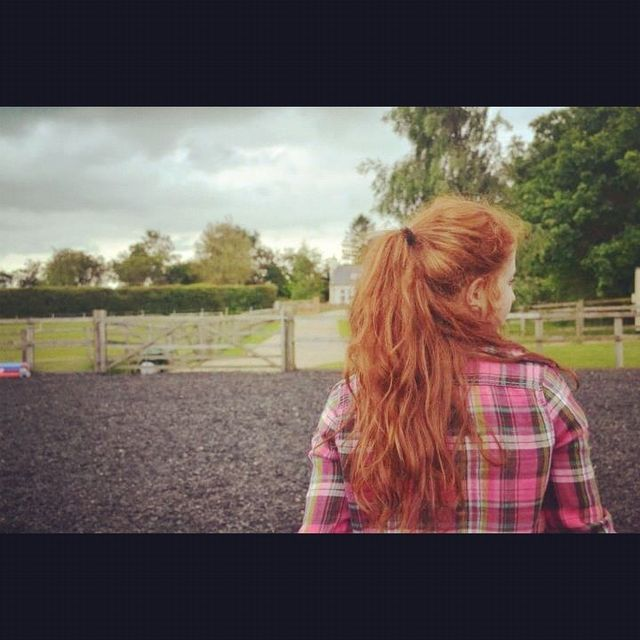 ginger pony tail