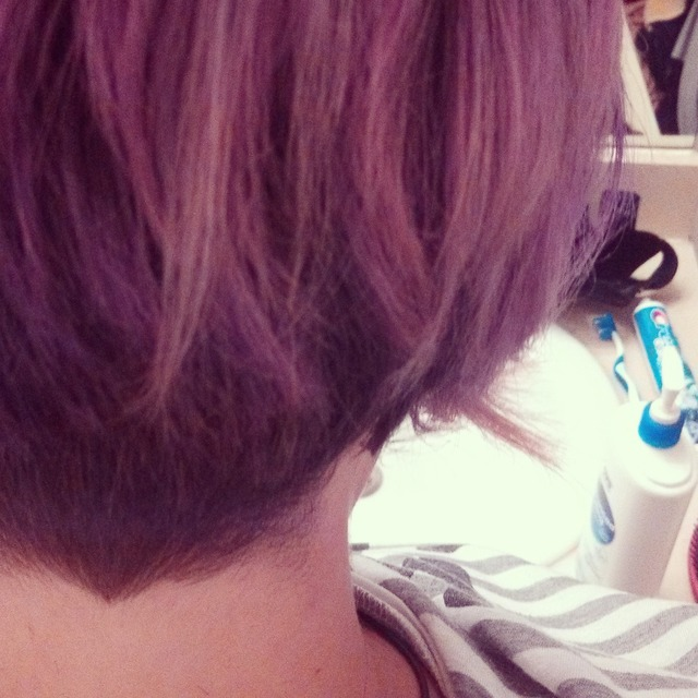 got bored, cut my hair (backview)