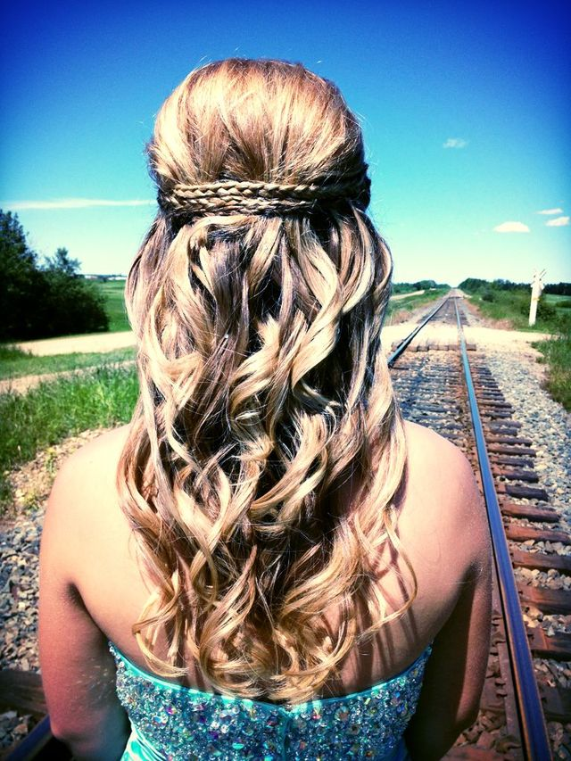 grad hair , blonde, braids