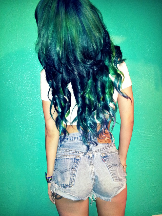 green hair ombre