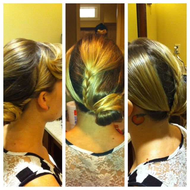 hair blocking updo