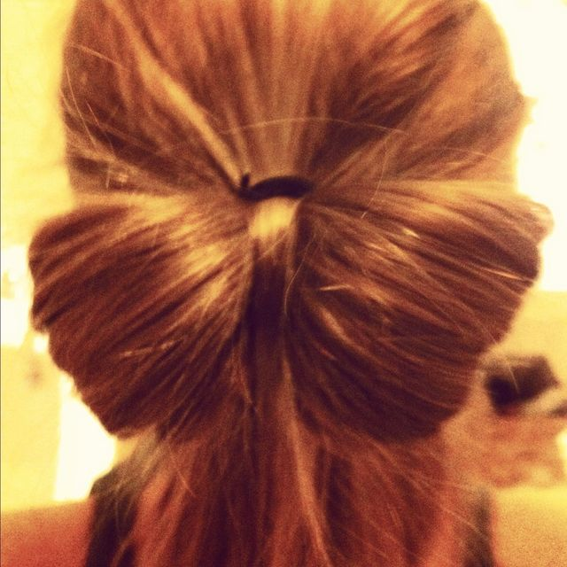 hair bow caramal