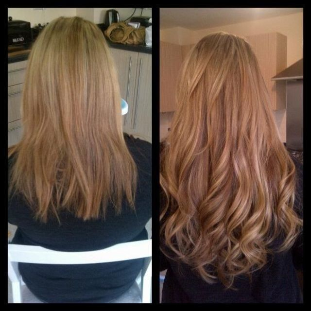 hair extensions done by me