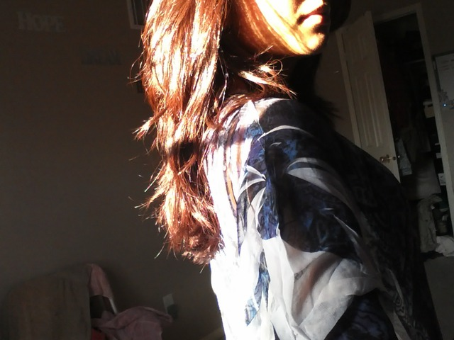 hair in the sunlight