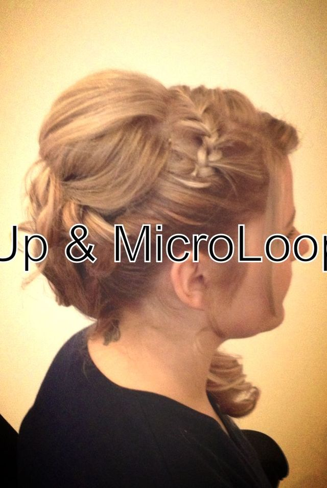 hair up & MicroLoop ext