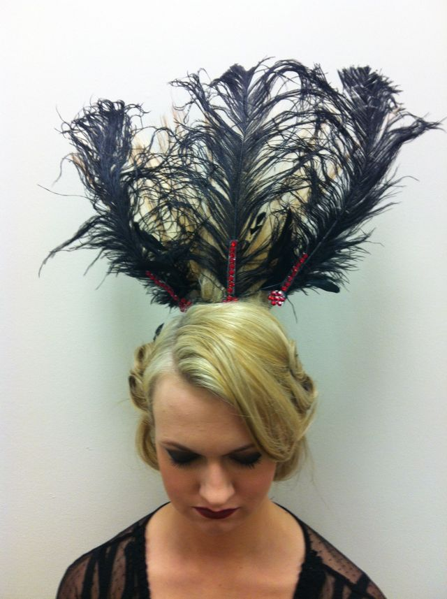 headress made of her hair