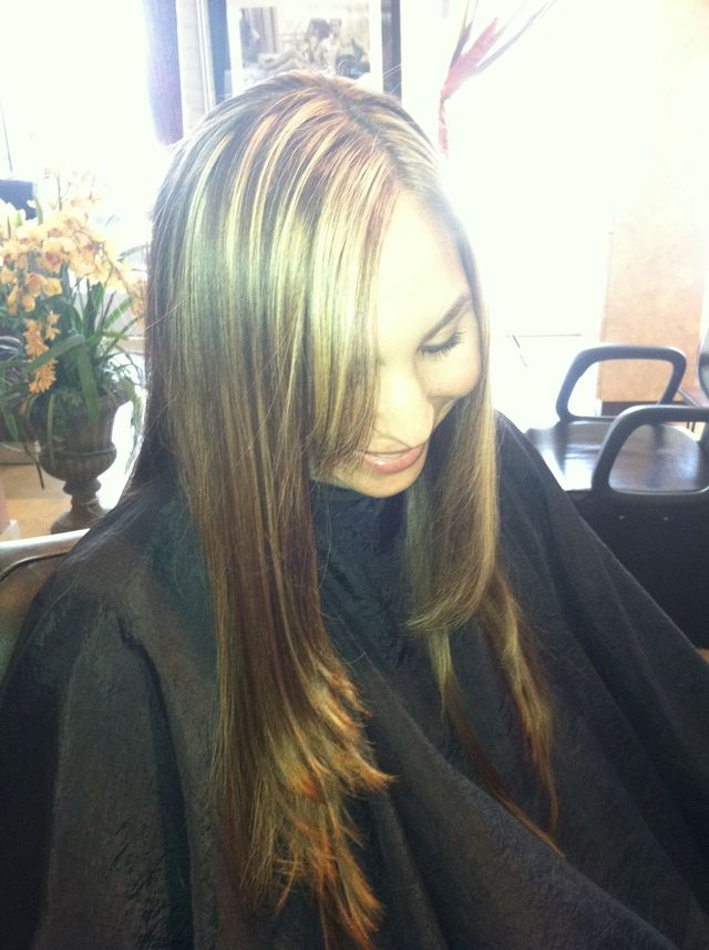 highlights and haircut