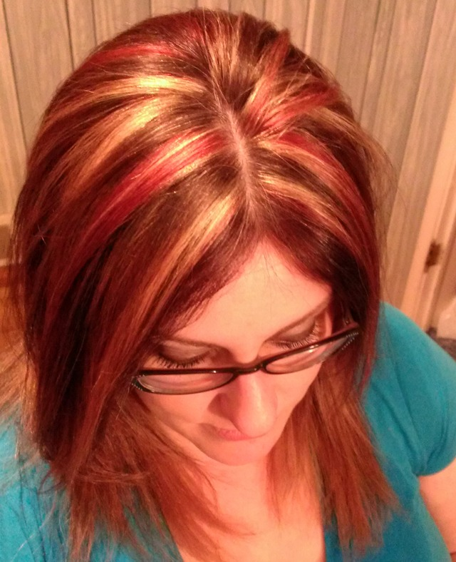 highlights and red lowlights