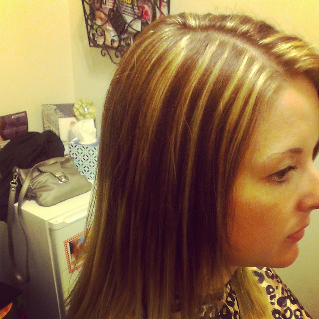 highlights on ombre