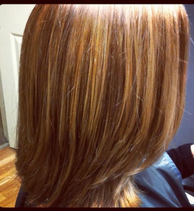 honey brown with caramel highlights