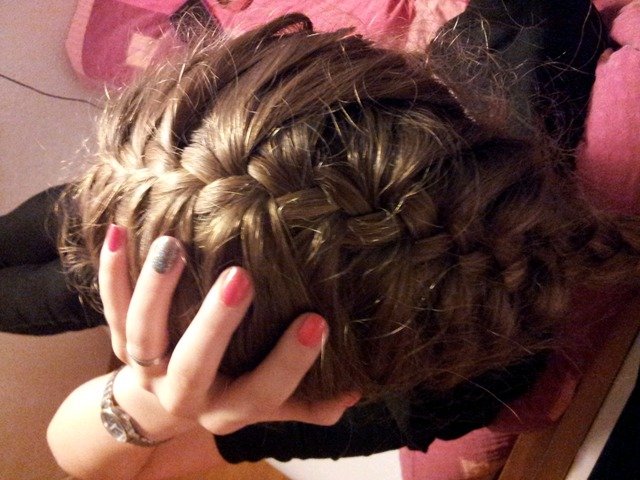 i made my sisters hair
