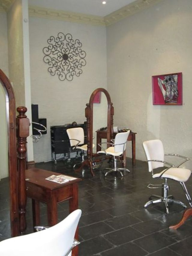 The salon floor