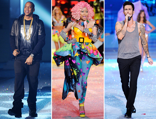 jay-z-nicki-minaj-adam-levine-victorias-secret