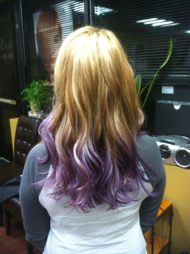lilac ombré and highlights
