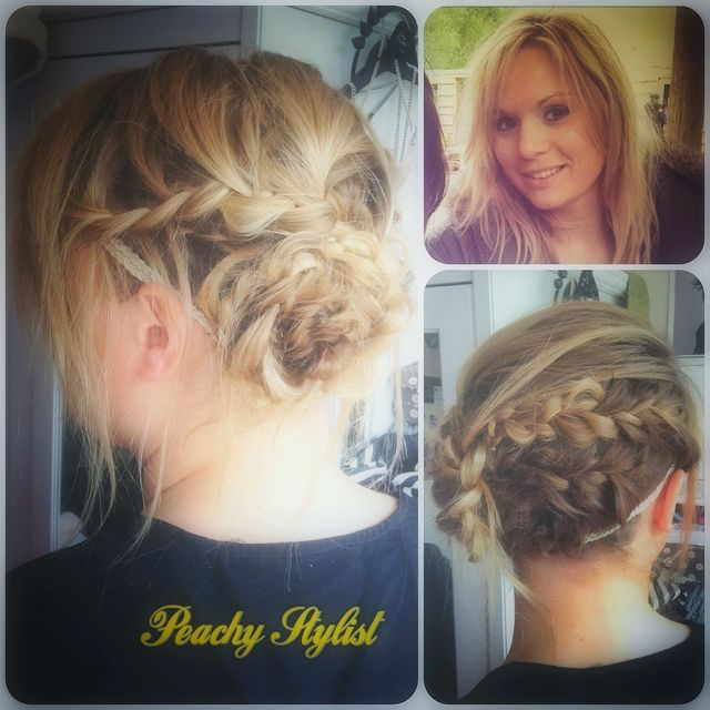 lived in tousled chic plaited updo