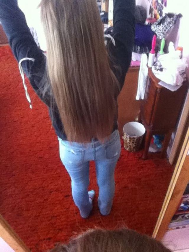 long and straight