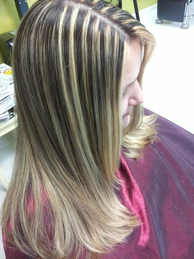 long blonde highlights
