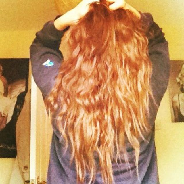 long, brown, curly hair